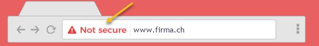 Chrome Warnung von Google, Webseite nicht sicher